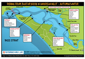 Anderson Inlet - Boat Fishing Map - Spring Summer