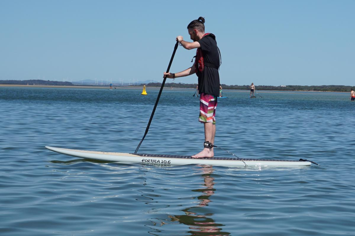 Portsea 10.6 Epoxy SUP Front On Water Inverloch